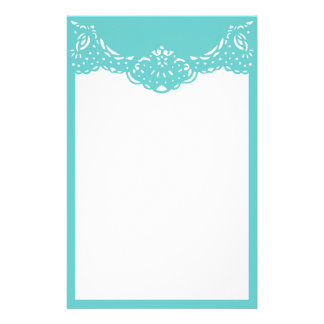 Aqua Lacy Stationery