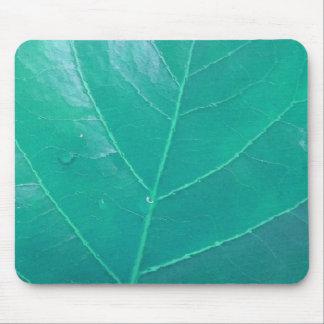 Aqua Leaf Mouse Pad