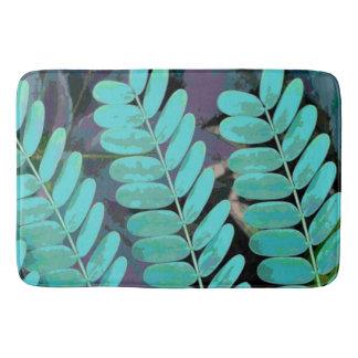 Aqua Leaves Bath Mat