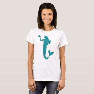 Aqua Mermaid Silhouette T-Shirt