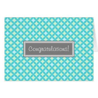 Aqua Mint Pattern Congratulations on Expecting Card