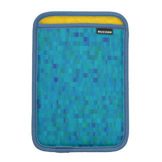 Aqua modern tile pattern sleeve for iPad mini