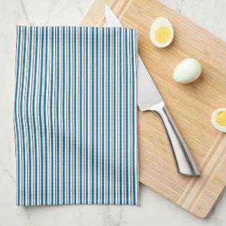Aqua monogrammed kitchen towel