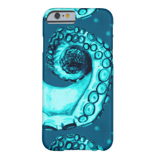 Aqua & Navy Nautical Octopus Tentacle iPhone6 Case