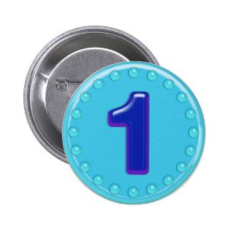 Aqua Number 1 Pins