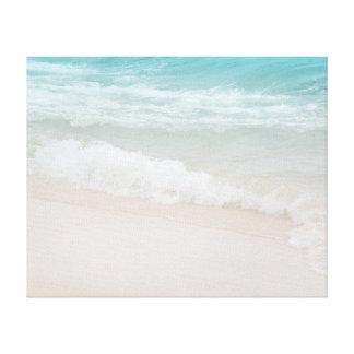 Aqua Ocean Waves in Kauai Canvas Print