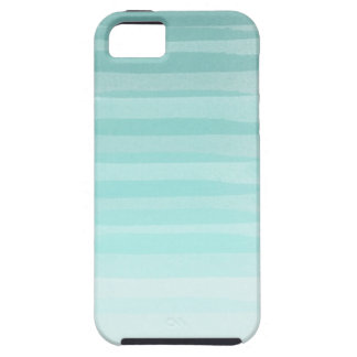 Aqua Ombre Art iPhone Case