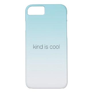 Aqua Ombre Kind is Cool iPhone 8/7 Case