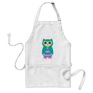 Aqua Owl Aprons