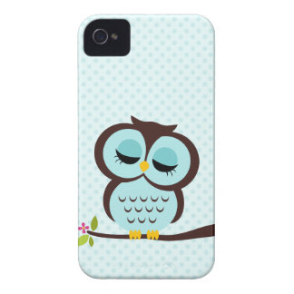 Aqua Owl Case-Mate iPhone 4 Case