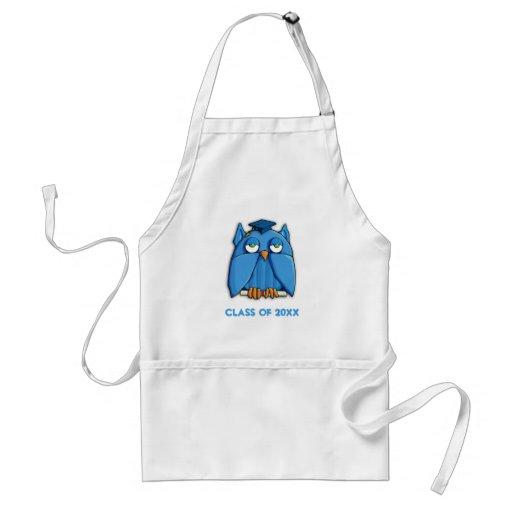 Aqua Owl Grad Apron