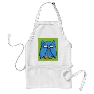Aqua Owl green Apron