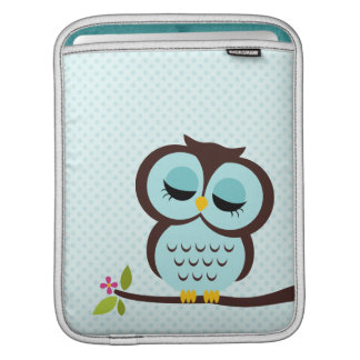 Aqua Owl iPad Sleeve