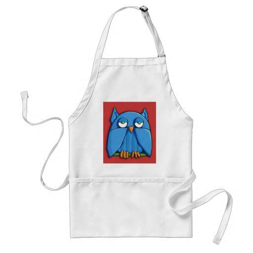 Aqua Owl red Apron