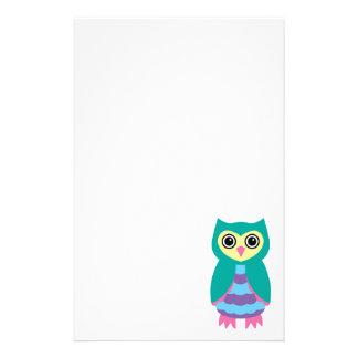 Aqua Owl Stationery