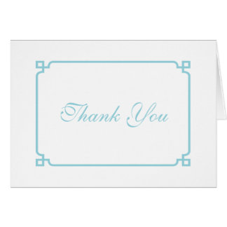 Aqua Paradise Deco Chic Wedding Thank You Card