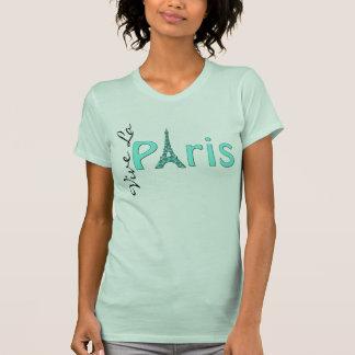 Aqua Paris Eiffel Tower T-Shirt