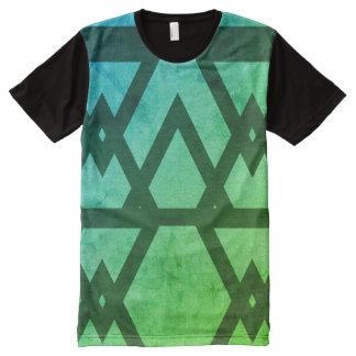 Aqua pattern all over printed tshirt