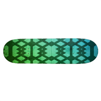 Aqua Pattern SKateboard Deck