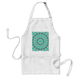 Aqua pattern standard apron