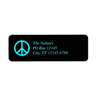 Aqua Peace Symbol, The Nelson'sPO Box 12345City...