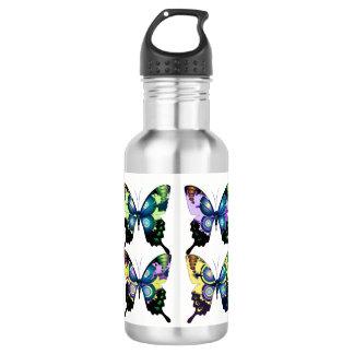 Aqua, Pink, and Yellow -  Elegant Butterflies 532 Ml Water Bottle