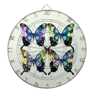 Aqua, Pink, and Yellow -  Elegant Butterflies Dartboard