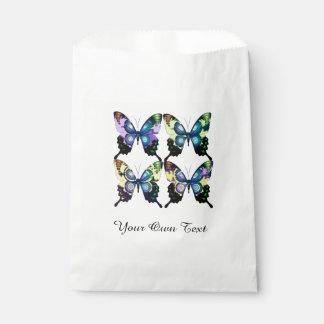 Aqua, Pink, and Yellow -  Elegant Butterflies Favour Bag