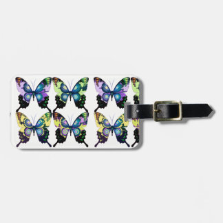 Aqua, Pink, and Yellow -  Elegant Butterflies Luggage Tag
