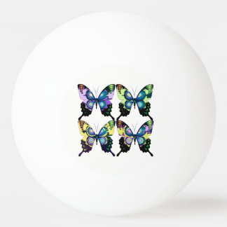 Aqua, Pink, and Yellow -  Elegant Butterflies Ping Pong Ball
