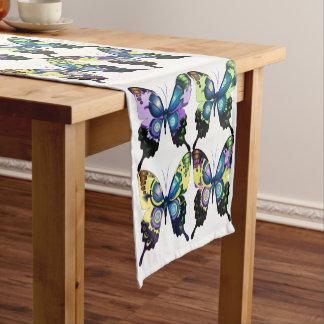 Aqua, Pink, and Yellow - Elegant Butterflies Short Table Runner