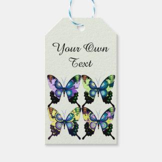 Aqua, Pink, Personalization -  Elegant Butterflies Gift Tags