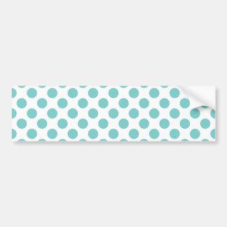 Aqua Polka Dots Bumper Sticker