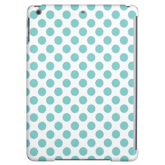 Aqua Polka Dots Cover For iPad Air
