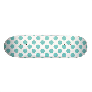 Aqua Polka Dots Custom Skateboard