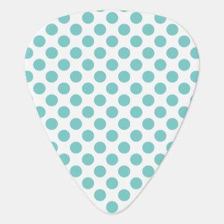 Aqua Polka Dots Guitar Pick