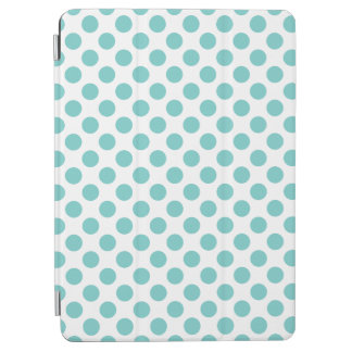Aqua Polka Dots iPad Air Cover