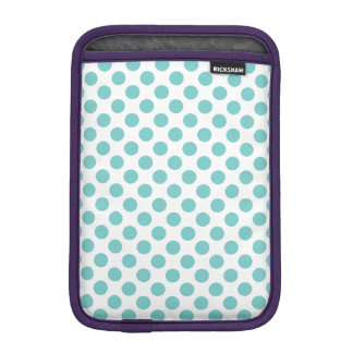 Aqua Polka Dots iPad Mini Sleeve