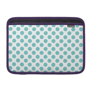 Aqua Polka Dots MacBook Air Sleeves