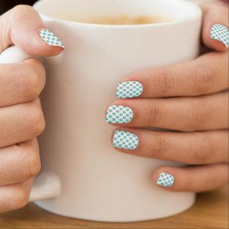 Aqua Polka Dots Minx Nail Art