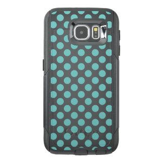 Aqua Polka Dots OtterBox Samsung Galaxy S6 Case