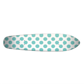 Aqua Polka Dots Skateboards