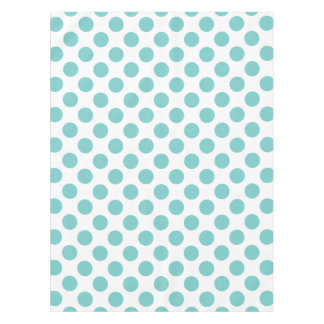 Aqua Polka Dots Tablecloth