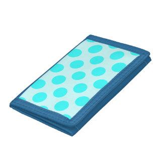 Aqua Polka Dots Trifold Wallet