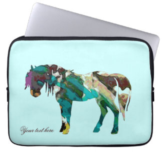Aqua Pony Laptop Sleeve
