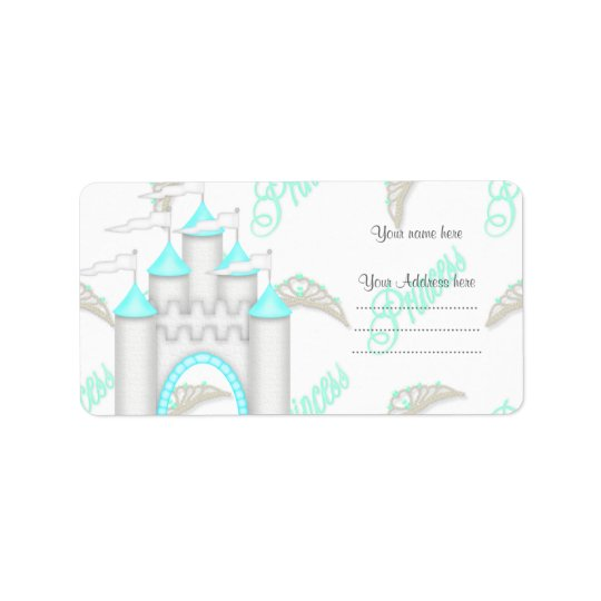 AQUA PRINCESS CASTLE ADDRESS LABEL