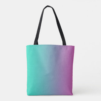 Aqua Purple Blended Tote Bag