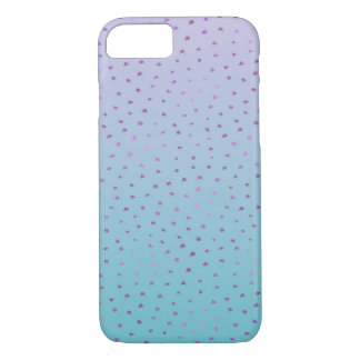 Aqua Purple Ombre Confetti Dots iPhone 8/7 Case
