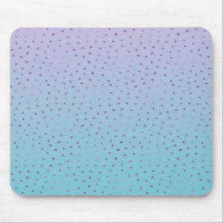 Aqua Purple Ombre Confetti Dots Mouse Pad