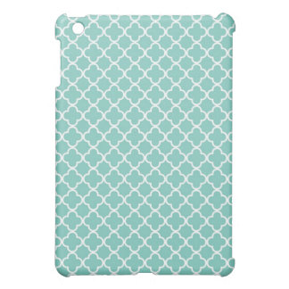 Aqua Quatrefoil Clover Pattern Case For The iPad Mini